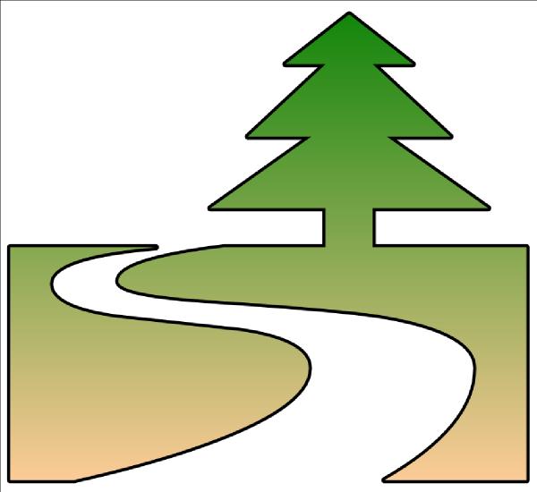 600x550 Nature Trail Cutout Clip Art