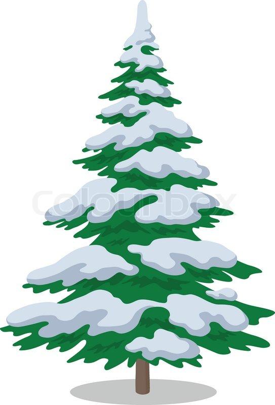 543x800 Snowy Tree Clipart