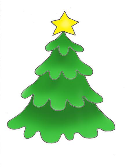 442x573 Xmas Tree Template Clipart