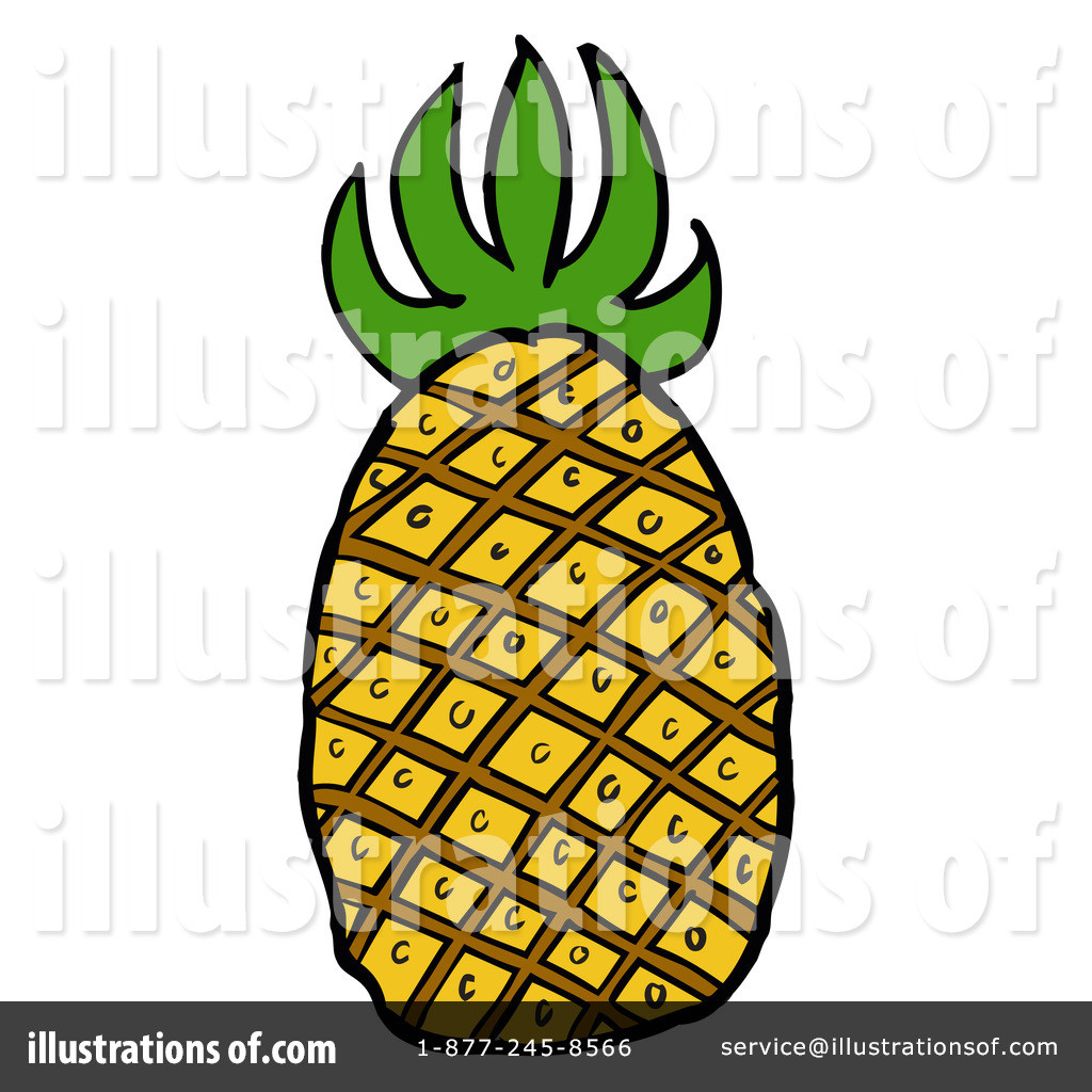 1024x1024 Pineapple Clip Art On White Background Royalty Free Cliparts