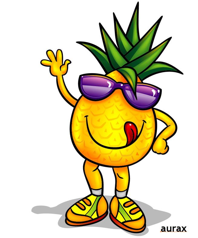 655x787 Pineapple Clipart Cartoon