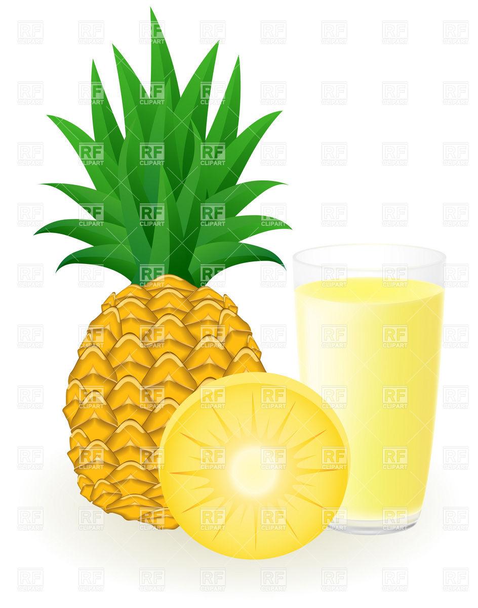 944x1200 Pineapple Juice Royalty Free Vector Clip Art Image