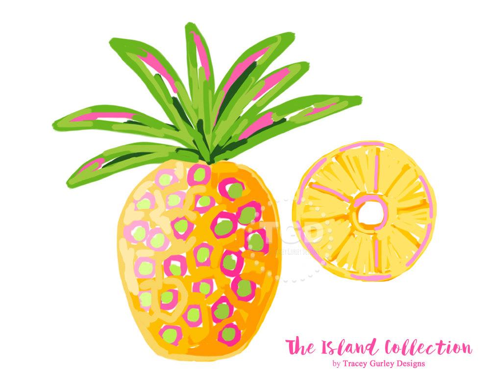 1000x800 Preppy Pineapple Clip Art