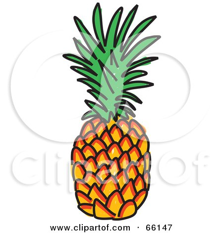 450x470 Clipart Illustration Of A Green Background Of Fresh Pineapples By