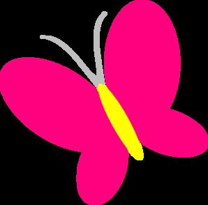298x294 Pink Butterfly Clip Art