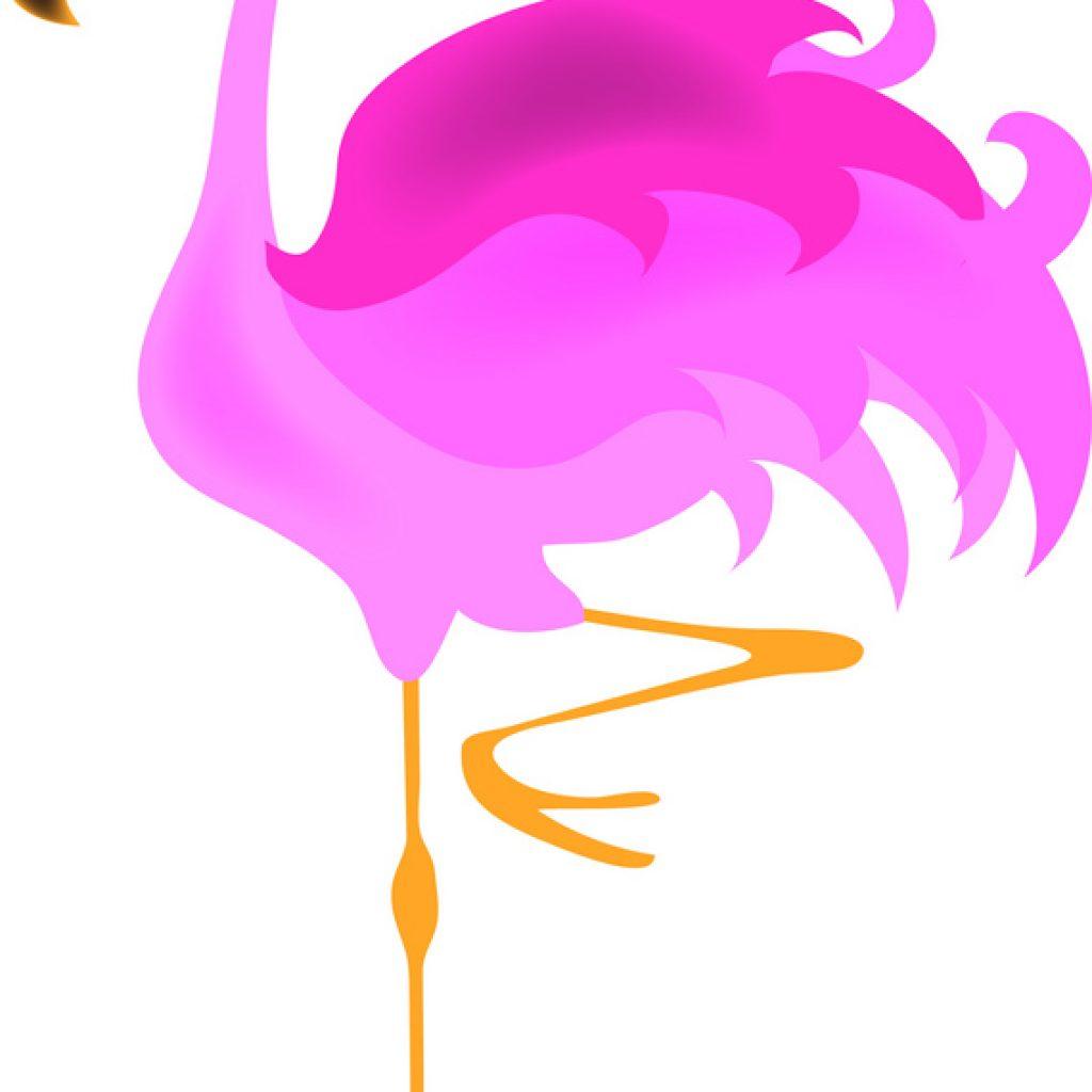 1024x1024 Pink Flamingo Clip Art Illustration Of Standing On One Leg
