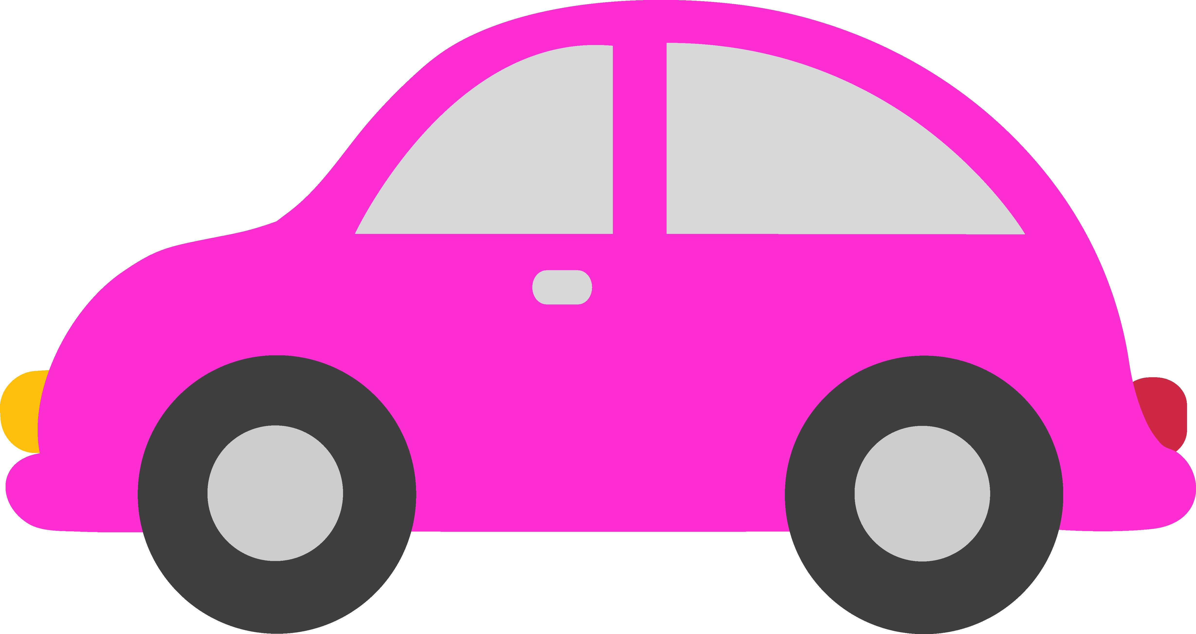 4916x2605 Pink Toy Car Clipart