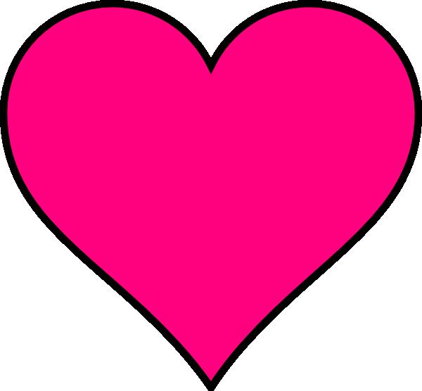 600x556 Pink Heart Clipart Dark Pink Heart Clip Art