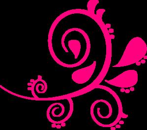 299x264 Swirl Paisley Pink Clip Art