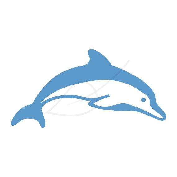 570x570 Dolphin Outline Clip Art