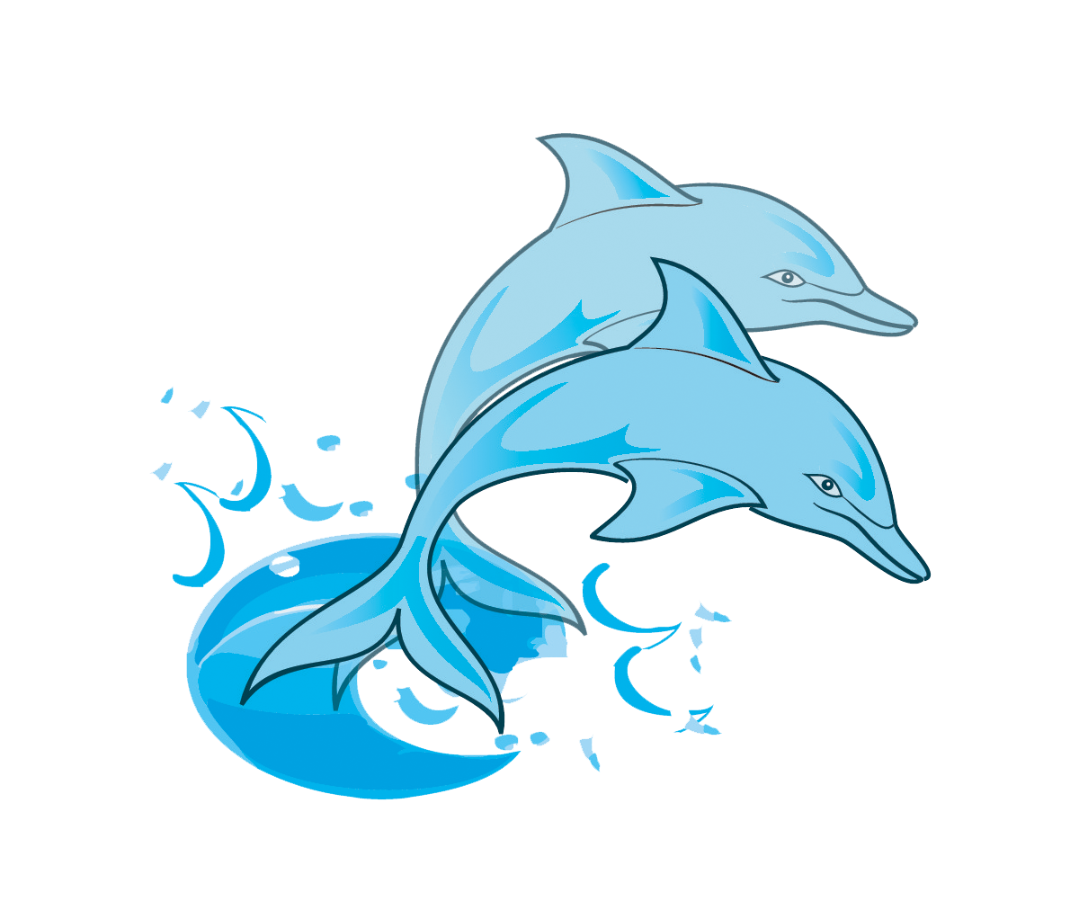 1200x1002 Dolphin Paintings Free Pair Of Blue Dolphins Clip Art Painting