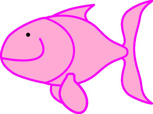 600x446 Pink Fish Clip Art