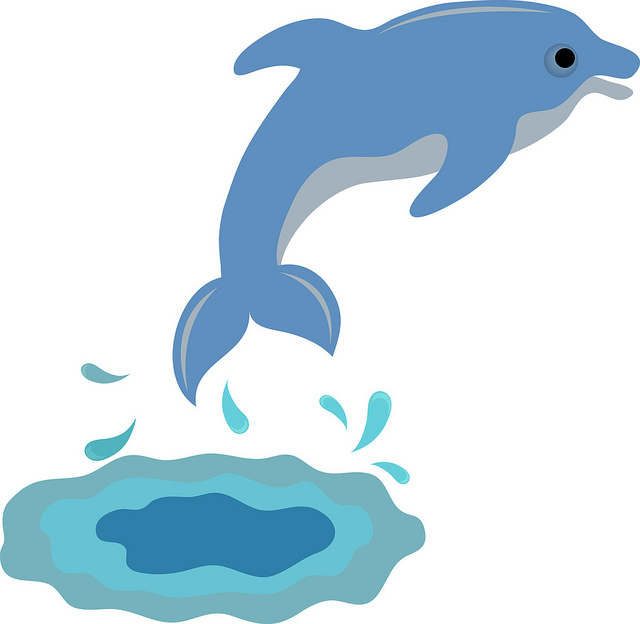 640x624 Collection Of Dolphin Swimming Clipart High Quality, Free