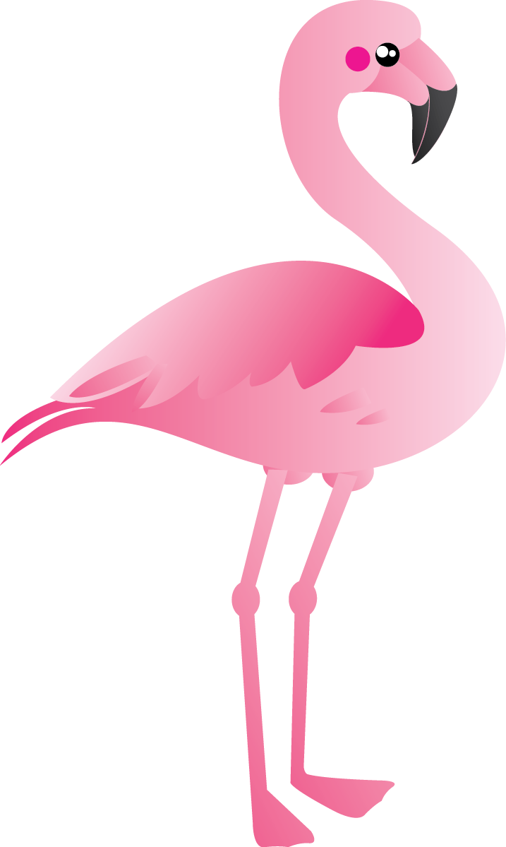 717x1199 Pink Flamingo Clip Art Illustration Of Standing On One Leg