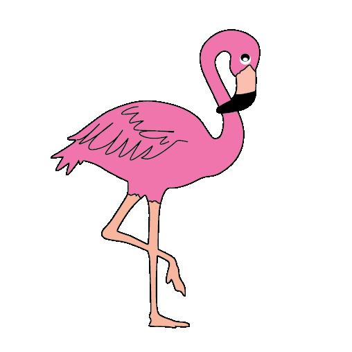 508x508 Pink Flamingo Clipart