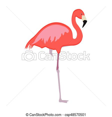450x470 Pink Flamingo Vector. Vector Illustration Pink Flamingo Vector