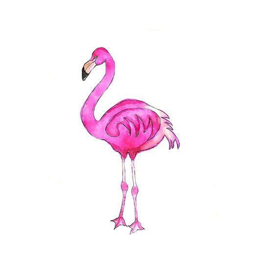 529x570 Watercolor Pink Flamingo Illustration Nursery By Digital Clip Art