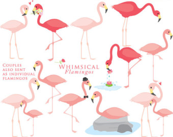 340x270 Flamingo Clip Art Etsy Studio