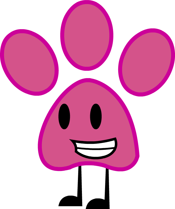 613x731 Pink Panther Paw Print (Commission) By Kitkatyj