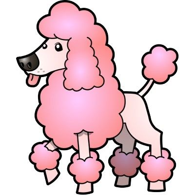 400x400 French Poodle Clipart Desktop Backgrounds