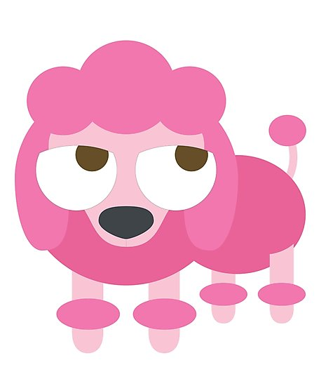 458x550 Pink Poodle Dog Emoji Thinking Hard And Hmm Face Photographic