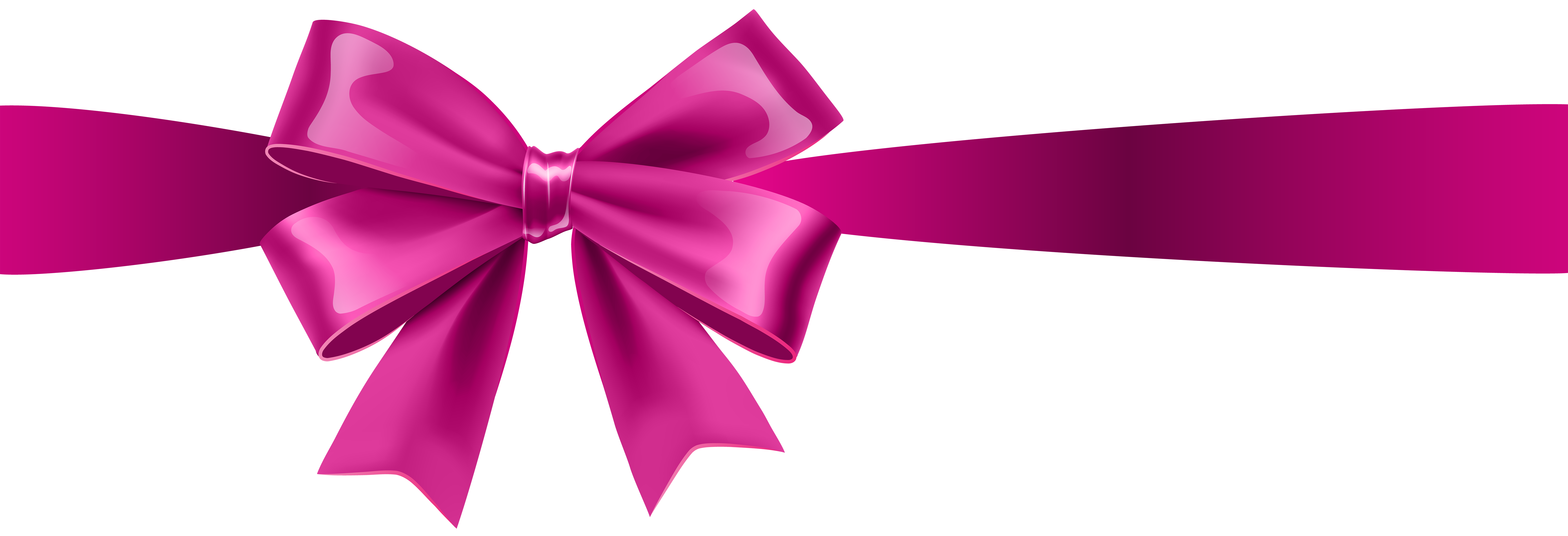 8000x2736 Pink Bow Clip Art Clipart Collection