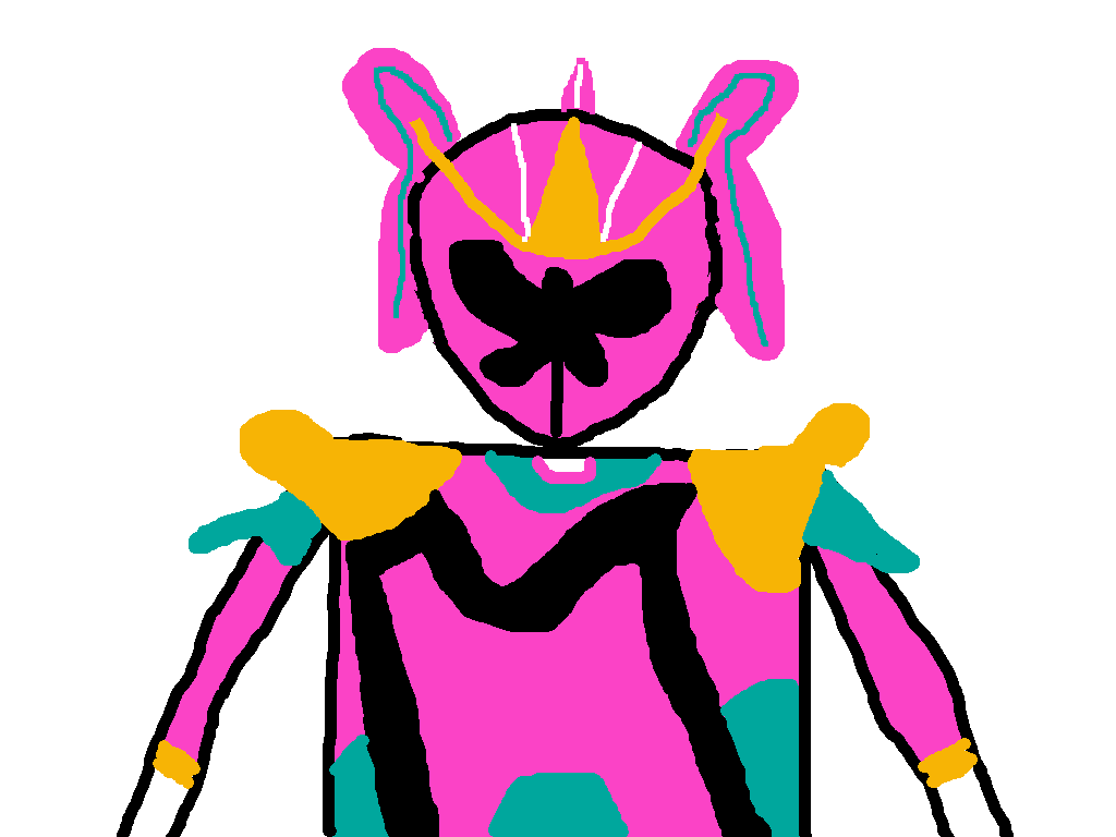 1024x768 Pink Mystic Force Ranger Battlizer By Pikachuxash Power Rangers