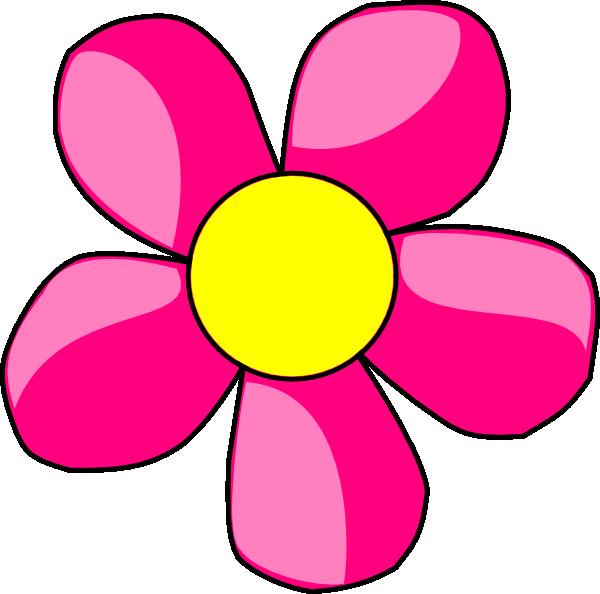 600x594 Pink Clipart Daisy Flower