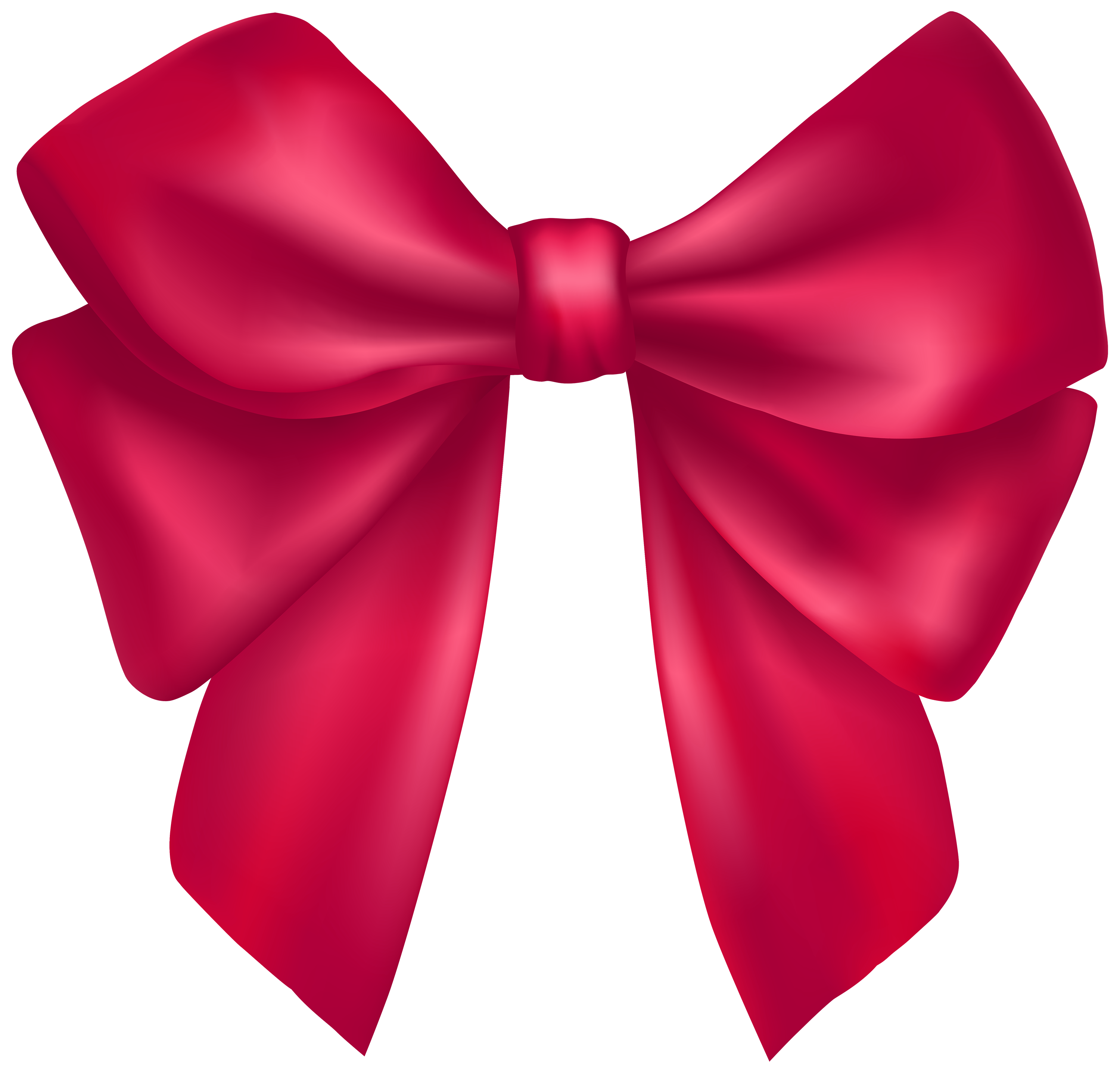 3000x2874 Dark Pink Bow Png Clipart