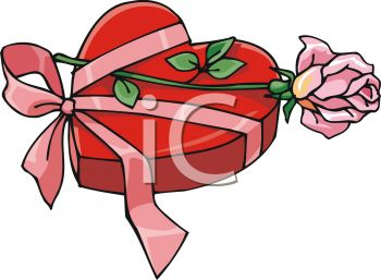 350x257 Picture Of A Heart Shaped Box Of Chocolates With A Pink Ribbon