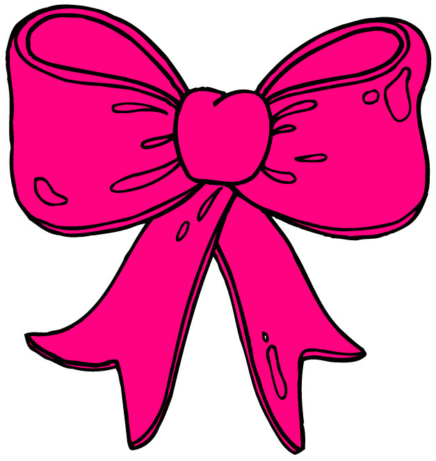 627x664 Collection Of Hot Pink Bow Clipart High Quality, Free