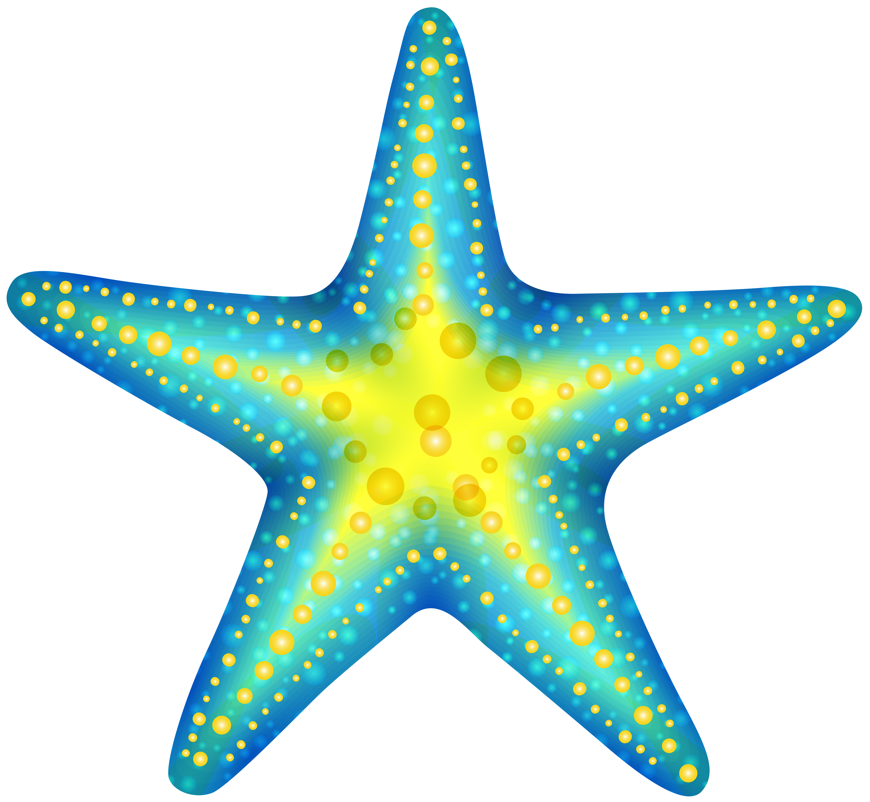 6000x5530 Blue Starfish Png Clip Art