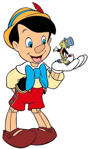 372x625 Pinocchio And Jiminy Cricket Clip Art Disney Clip Art Galore