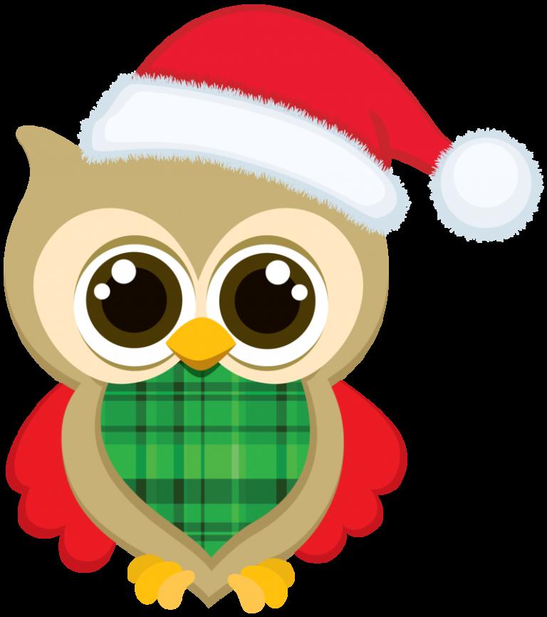768x866 Clipart Christmas Owls Christmas Owl Clip Art Bellas Imgenes