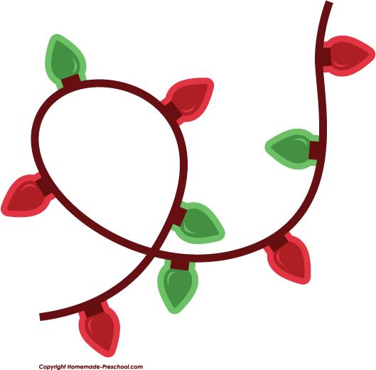 529x520 Free Christmas Lights Clipart Scrapbook