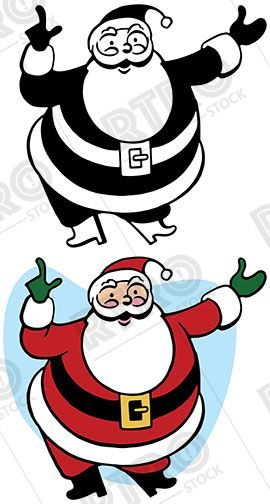 270x504 Santa Claus Gestures And Points To Something Interesting Vintage