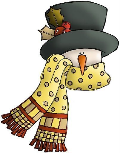 402x512 Snowman With Scarf Winter Clip Art And Images