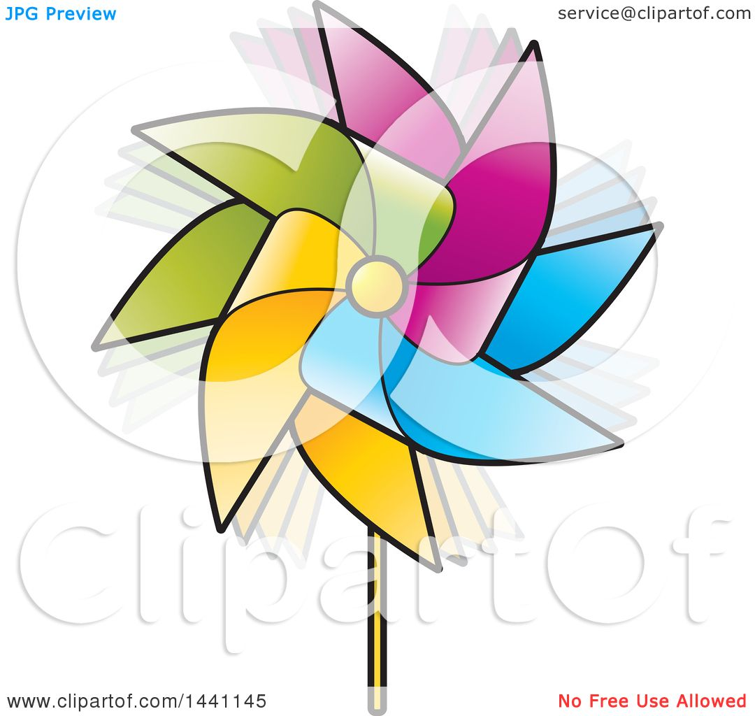 1080x1024 Clipart Of A Colorful Spinning Pinwheel