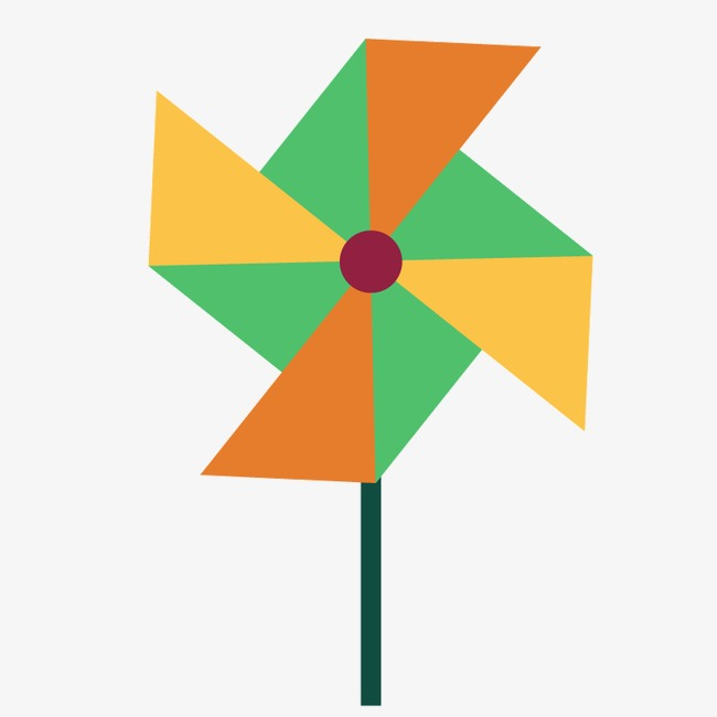 650x650 Flat Windmill, Windmill, Wind, Pinwheel Png Image And Clipart