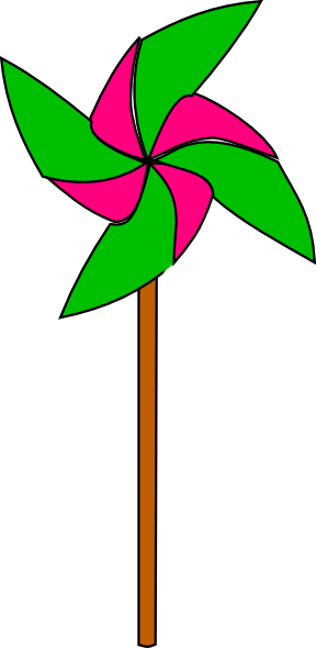 288x590 Pink And Light Green Pinwheel Clip Art