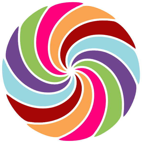 594x599 Pinwheel Multi Colored Clip Art