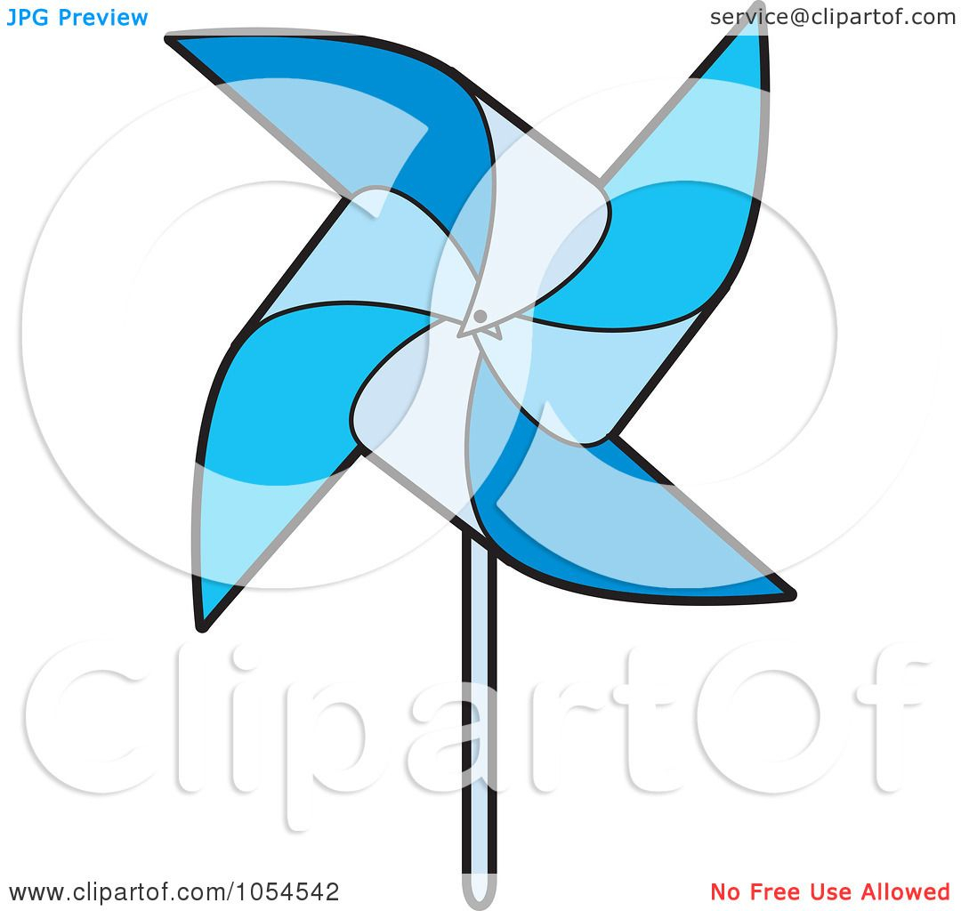 1080x1024 Royalty Free Vector Clip Art Illustration Of A Blue Pinwheel By