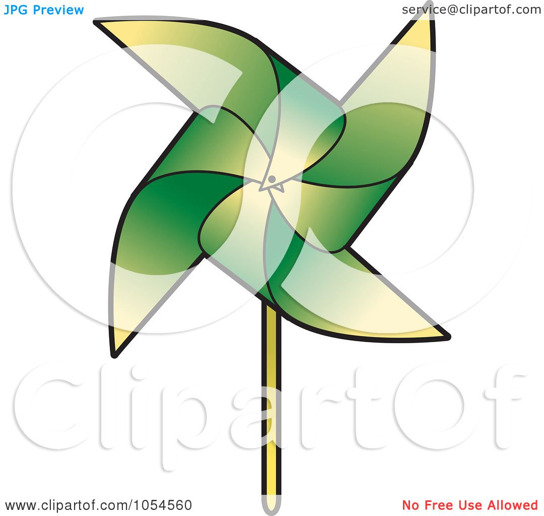 1080x1024 Royalty Free Vector Clip Art Illustration Of A Green Pinwheel By