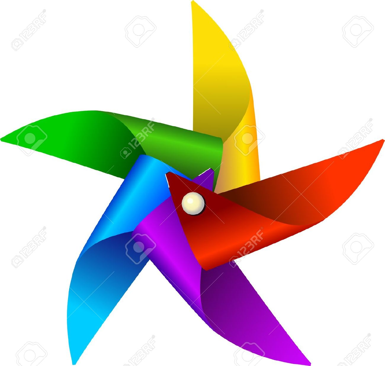 1300x1237 Windmill Clipart Colorful