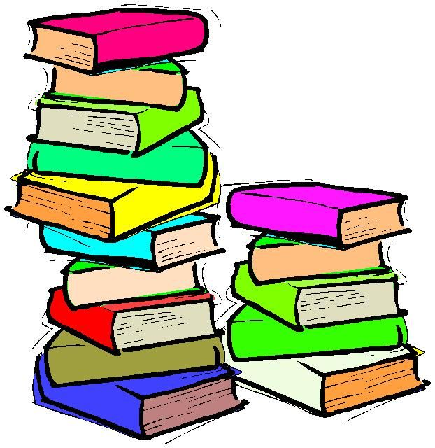 622x640 Tall Stack Of Books Clip Art