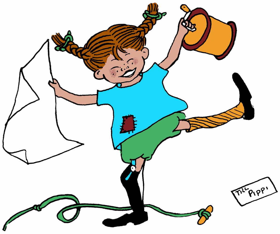 Pippi Longstocking Clipart