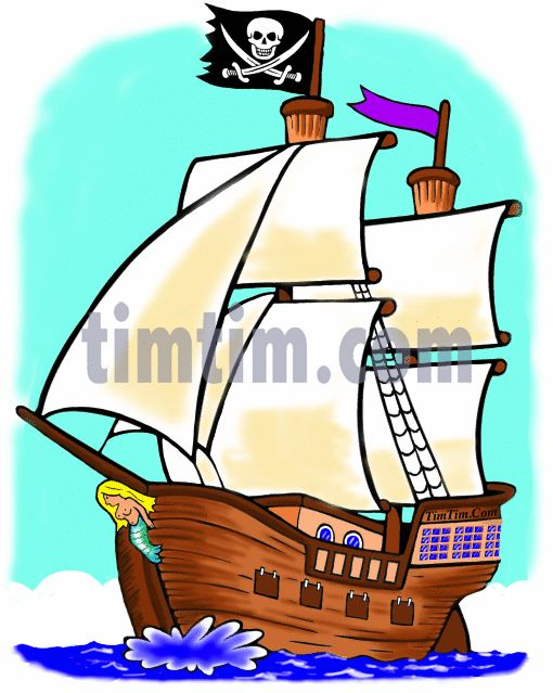 510x639 Collection Of Pirate Ship Drawing Colour High Quality, Free