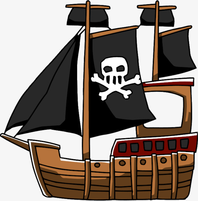 650x658 Hand Painted Pirate Ship, Pirate Ship, Cartoon, Graphic Design Png