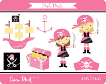 340x270 Pink Clipart Pirate Ship