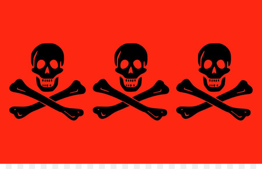 900x580 Jolly Roger Flag Piracy Decal Clip Art